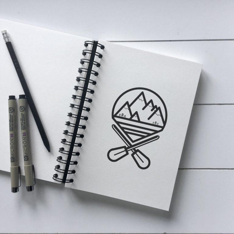 Djangonaut - Graphic Design - Branding - Logodesign - Wanderlust - Sketchbook - Monochrome