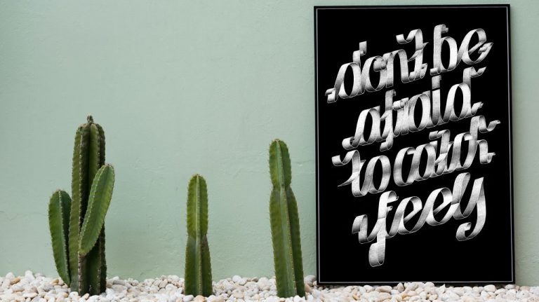 Djangonaut - Graphic Design - Handlettering - Illustration - Kate Perry - Feels - Poster