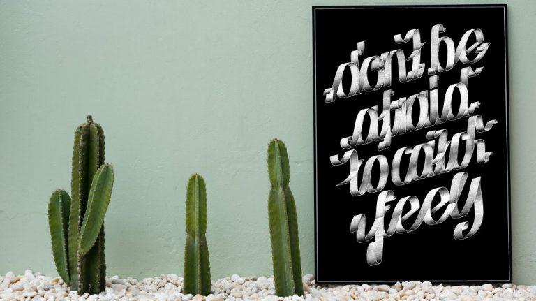 Djangonaut - Graphic Design - Handlettering - Illustration - Kate Perry - Feels - Poster