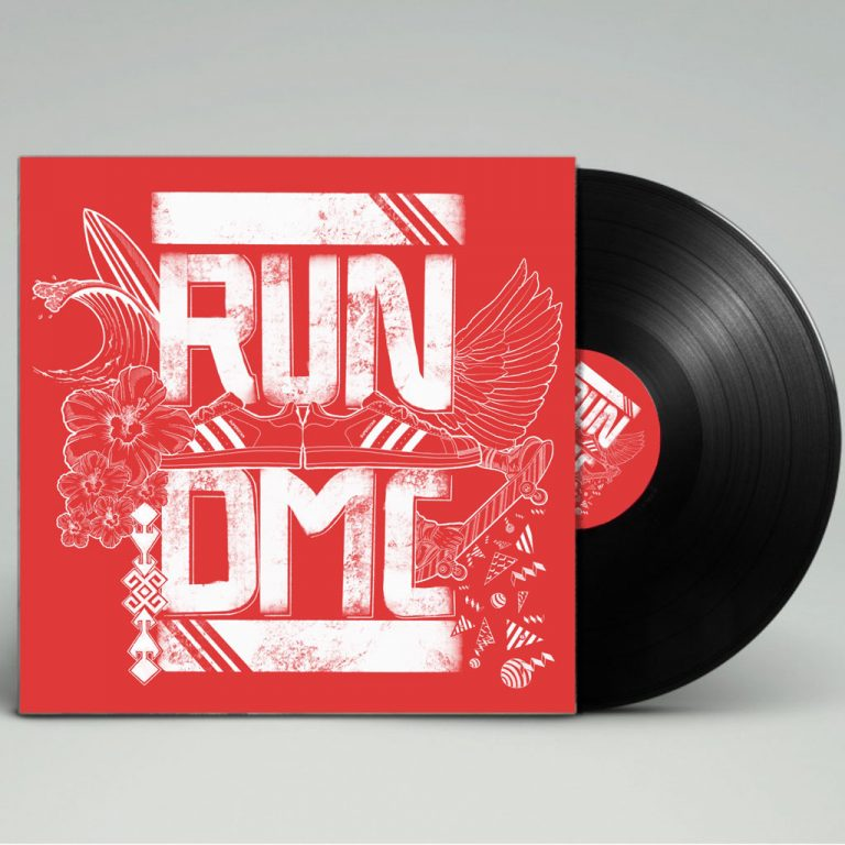 Djangonaut - Graphic Design - Handlettering - Illustration - RUN DMC - LP Cover