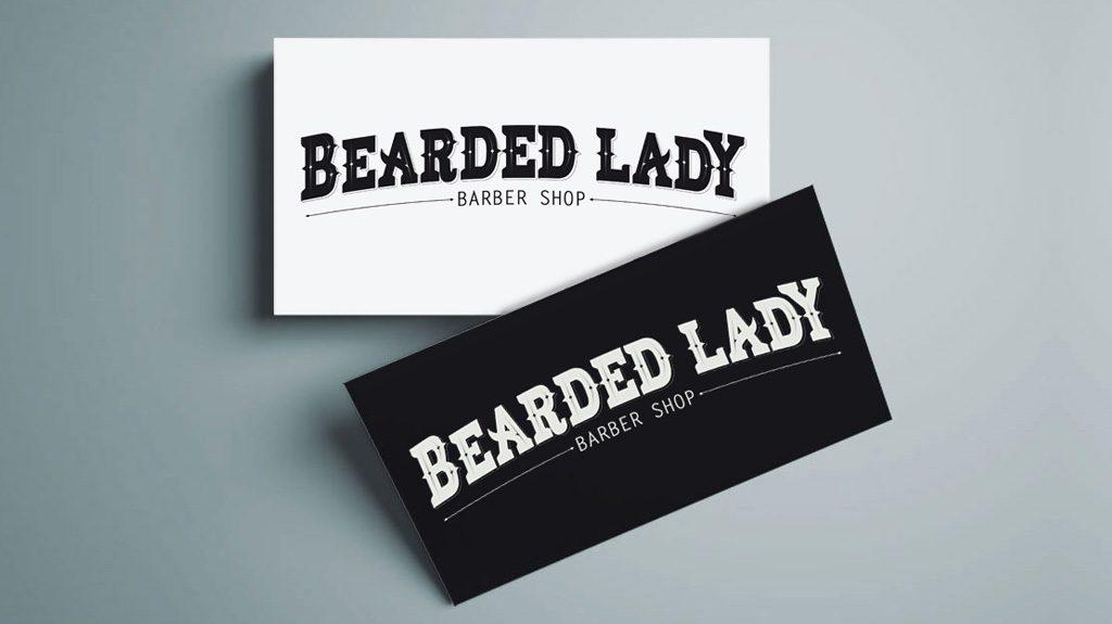 Djangonaut - Handlettering - Logotype - Branding - Bearded Lady Barber Shop - Business Cards