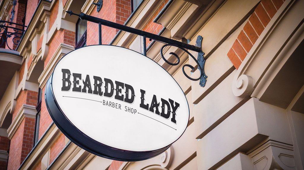 Djangonaut - Handlettering - Logotype - Branding - Bearded Lady Barber Shop - Sign