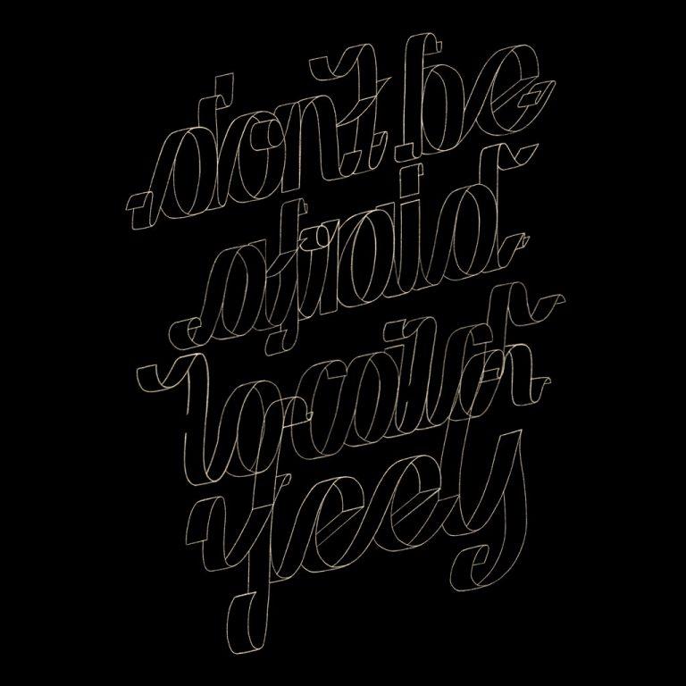 Djangonaut - Graphic Design - Handlettering - Illustration - Kate Perry - Feels - Outline Sketch