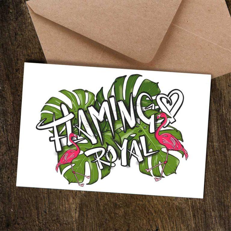 Djangonaut - Illustration - Handlettering - Flamingo Royal - Postcard