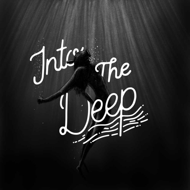 Djangonaut - Illustration - Handlettering - Into The Deep