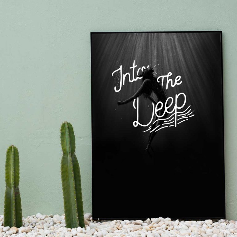 Djangonaut - Illustration - Handlettering - Into The Deep - Poster