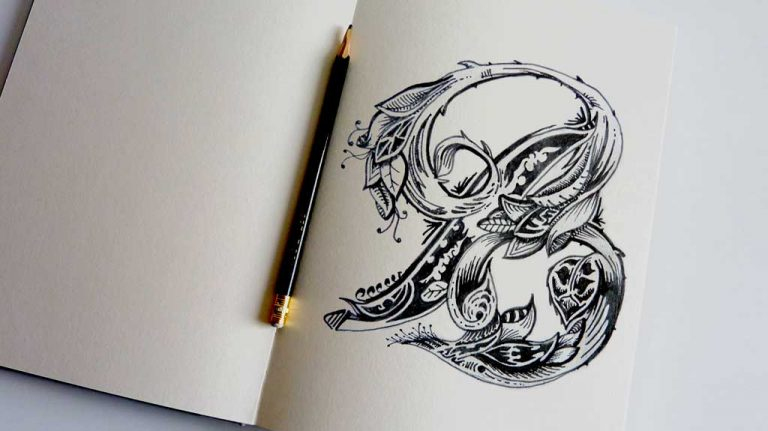 Djangonaut - Illustration - Handlettering - Just The Letter B - Sketchbook