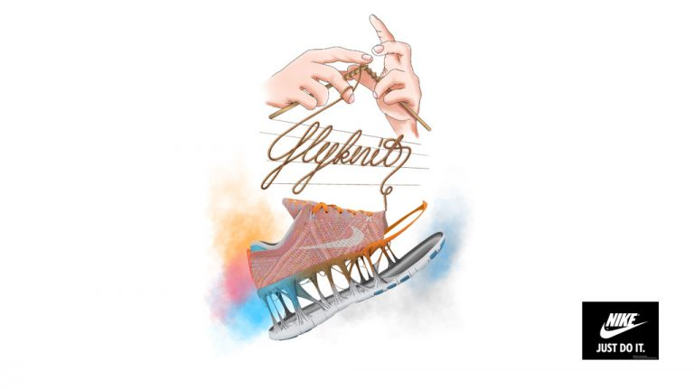 Djangonaut - Illustration - Handlettering - Nike Flyknit - Concept Ad