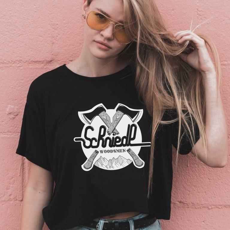 Djangonaut - Handlettering - Illustration - Schniedl Woodsmen - T-Shirt