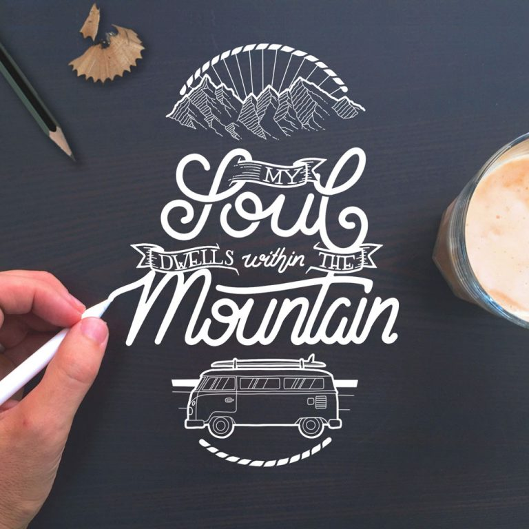Djangonaut - Handlettering - Illustration - Soul Mountain Bully - Coffe and Apple Pen
