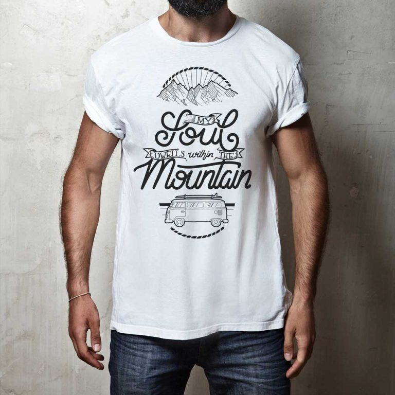 Djangonaut - Handlettering - Illustration - Soul Mountain Bully - T-Shirt - White