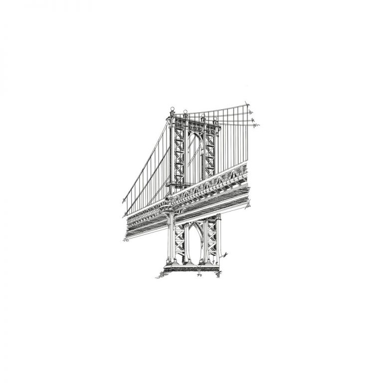 Djangonaut- Illustration - Manhattan Bridge