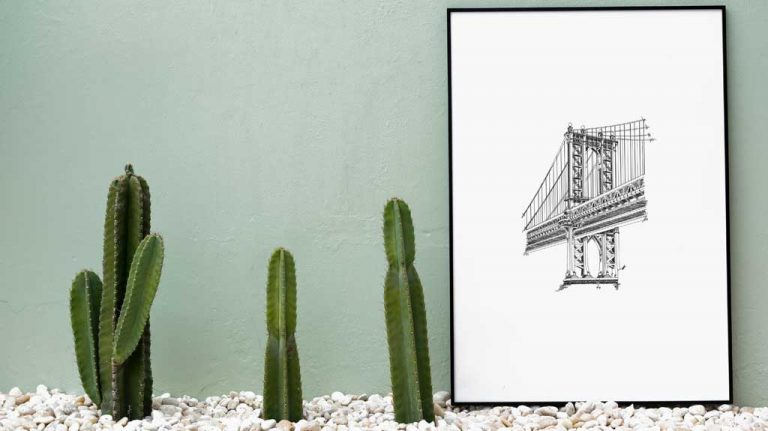 Djangonaut- Illustration - Manhattan Bridge - Poster