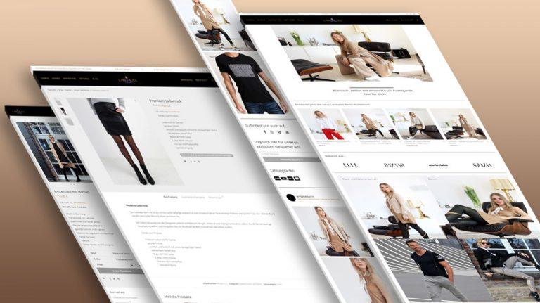 Djangonaut- Graphic Design - Webdesign - Fashion Label - Landadel Berlin - Online Shop - E-Commerce