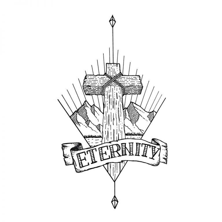 Djangonaut - Tattoo Design - Illustration - Handlettering - Cross Mountain Eternity