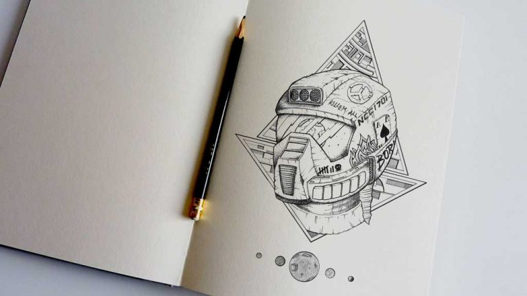 Djangonaut - - Illustration - Tattoo Design - Spaceman - Sketchbook