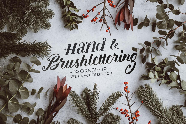 Titelbild zum Hand- und Brushlettering Workshop in Köln mit djangonaut - Weihnachtsedition