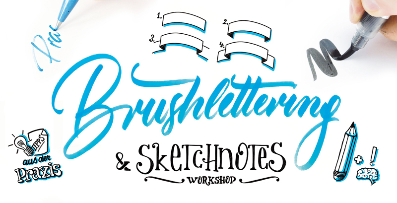 Brushlettering und Sketchnotes Workshop